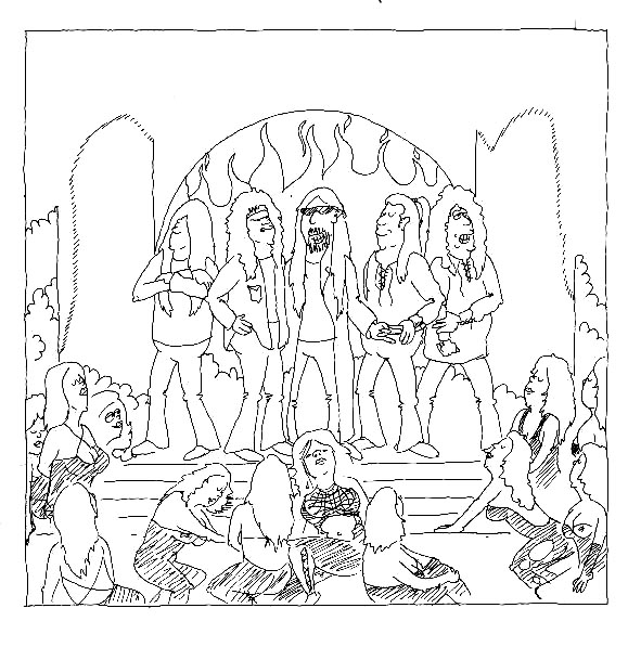 Kiss Rock Band Coloring Pages Sketch Coloring Page
